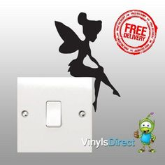 Wall Sticker Decal - Tinkerbell Silloute Sticker £2.99
