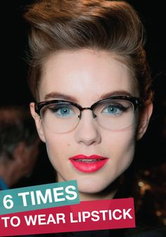 This article is a must read for any girl! It tells you the best times to wear lipstick and when you should probably leave it at home!