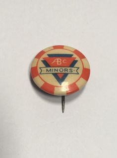 Old Vintage ABC Minors Cinema Club Badge - Saturday Morning Pictures in…