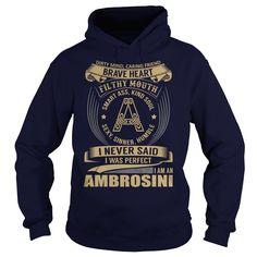 (Tshirt Top Gift) AMBROSINI Last Name Surname Tshirt Tshirt-Online Hoodies Tees Shirts