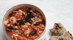 You'll want crusty bread for sopping up this San Francisco fish stew.