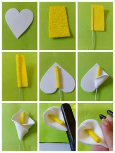Calla Feltro: - Diy for Home Decor Awesome awesome diy home decor teen crafts beauty projects oragnization clothes art eas awesome beauty clothes crafts decor oragnization projects Felt Calla: Source by Calas … Plus This looks like funky foam but would Paper Flowers Diy, Handmade Flowers, Felt Flowers, Flower Crafts, Diy Paper, Fabric Flowers, Paper Crafting, Craft Flowers, Fondant Flowers