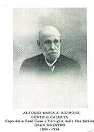 ALFONSO MARIA DI BORBONE CAPO DELLA REAL CASA