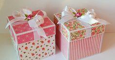...czyli papiery, które w jednym pudełku są na wierzchu w drugim znalazły się wewnątrz. Exploding Box Card, Altered Boxes, Explosion Box, Craft Box, Beautiful Hands, Decorative Boxes, Gift Wrapping, Cards, Handmade