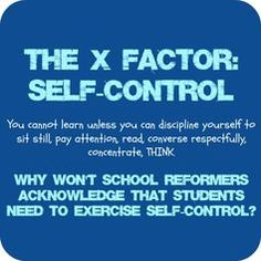 """""""This is the """"X factor"""" that the Powers That Be refuse to acknowledge: students with the self-discipline to apply themselves to their school work will usually be successful despite the type or quality of education they receive."""""""