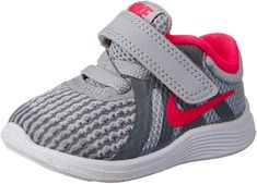 Nike Shoes OFF! ►► Minimal in design Girls Nike Revolution 4 (TD) Toddler Shoe is made of lightweight single-layer mesh minimal no-sew overlays and soft foam beneath the foot for revolutionary comfort. Nike Kids, Baby Nike Shoes, Play Shoes, Nike Shoes Outlet, Toddler Shoes, Girls Shoes, Fashion Shoes, Fashion Outfits, Running Shoes