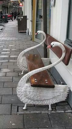 Cool bench in Amsterdam, Holland