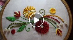 Embroidery Designs | Hand embroidery stitches | Stitch and Flower-97 https://youtu.be/SPkBH7gzlHI Store: http://handembstitch.blogspot.com/p/embroidery-store.html Options for embroidery designs are limitless. The whole world of pictorial art awaits the e