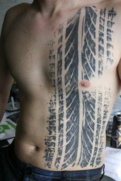 Cool tattoo idea. Tire tread!
