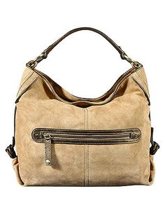 Contrasting leather bag in beige Sale - Silvio Tossi