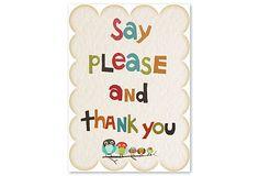 Please and Thank You on OneKingsLane.com