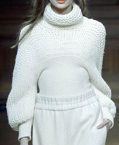Mixed gauge hand knit sweater