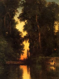 Thomas Moran, Art Thomas, Oil Painting On Canvas, Canvas Art Prints, Landscape Art, Landscape Paintings, Oil Paintings, Edward Moran, Munier