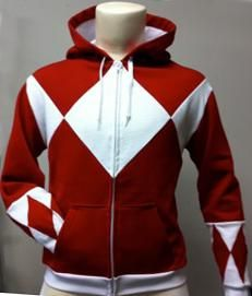 Original Red Power Ranger Hoodie!! Now, to figure out how to make it.