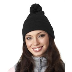 e4fd9ab33e3 UltraClub Adult Knit Pom-Pom Beanie with Cuff in Grey