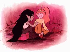 Flame Princess, Princess Of Power, Adveture Time, Prince Gumball, Marceline And Princess Bubblegum, Lesbian Art, Bubbline, Fanart, Adventure Time Anime