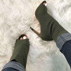 Knit Stiletto Booties