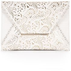 BCBGMAXAZRIA Harlow Laser-Cut Envelope Clutch found on Polyvore