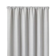 """Largo Grey Linen 50""""x108"""" Curtain Panel - Crate and Barrel"""