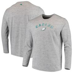bceb5cdf4 Philadelphia Eagles Tommy Bahama Fronds In The Box Long Sleeve T-Shirt - Heathered  Charcoal