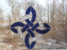 Celtic Protection Knot Stained Glass by HillLillyDesigns on Etsy