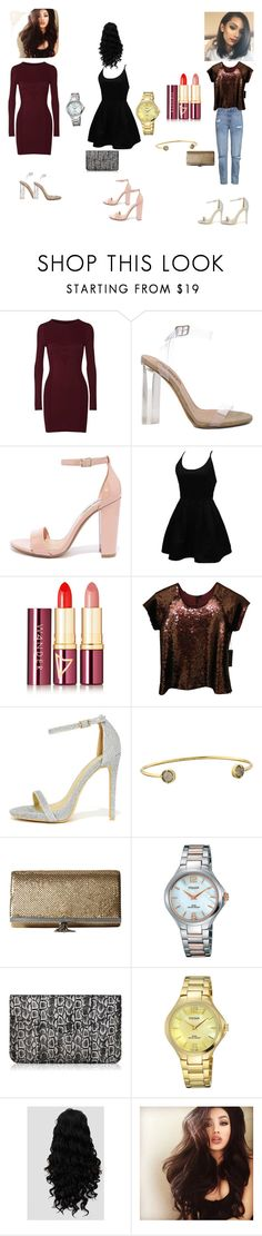 """""""date night"""" by lynn0711 on Polyvore featuring Maison Margiela, YEEZY Season 2, Steve Madden, WithChic, Wander Beauty, Joe's Jeans, C Label, Vince Camuto, Jessica McClintock and Pulsar"""