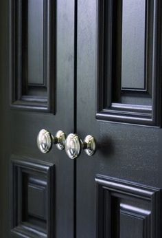 I Like White Doors With Black Door Knobs For The Home