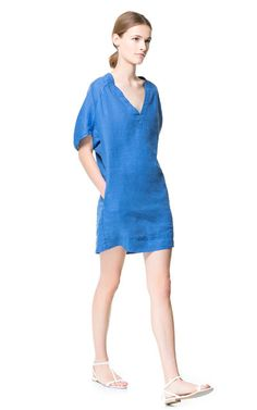 LINEN TUNIC - Dresses - Woman - ZARA United States