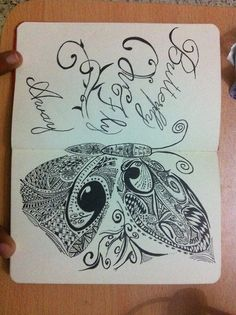 """A small inspiration from Miley Cyrus song """"Butterfly Fly Away"""" Doodle ~ By Raji Vishwathika"""