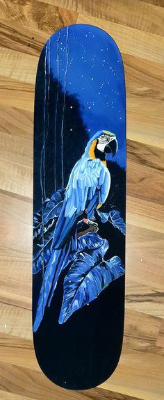 #ARA #papagei #skateboard #deck #kunst #art Skateboard Decks, Painting, Art, Artworks, Basteln, Kids, Ideas, Skateboards, Art Background