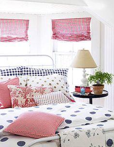 polka dots & checks..bright & cheerful