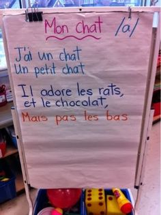 Primary French Immersion Resources: Une comptine pour le son /a/