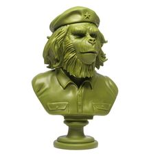 """SSUR 12"""" Rebel Ape Army Green Bust Sculpture Olive Limited Edition of 100 NEW #SSUR"""