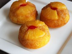 Pineapple Upside-Down Cupcakes - Perfect for a summer get-together or picnic. Individual sized desserts!