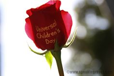 """Happy Universal Children's Day! This is one of my favorite quotes about children, from an anonymous author: """"Children are great imitators. So give them something great to imitate."""" www.speakingroses.com"""