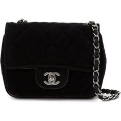 Chanel Vintage mini flap crossbody bag found on Polyvore featuring bags, handbags, shoulder bags, chanel, black, quilted crossbody, black quilted shoulder bag, mini crossbody, black quilted handbag and crossbody purse