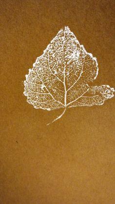 Moleskine journals. Print. Print making. Cottonwood leaf. Leaf veins.
