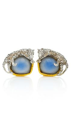 Siyabona Gold Cerulean Panther Clip Earrings by Alexis Bittar for Preorder on Moda Operandi  320