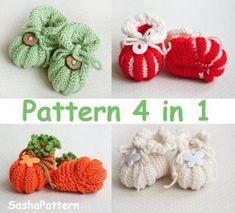 Pumpkin Baby Booties Knitting Pattern