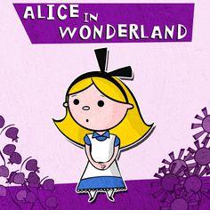 Alice in Wonderland Print 8 x 8. $16.00, via Etsy.