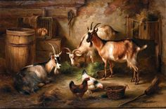 - Page 321 Indian Art Paintings, Country Paintings, Classic Paintings, Animal Paintings, Beautiful Paintings, Animal Drawings, Country Critters, Image Deco, Cute Goats