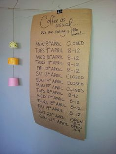 April at Reservoir cafe, Lady Bower on Marchant Street
