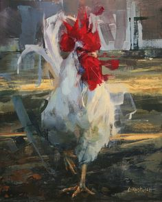 Good Morning Sunshine by Lindsey Kustusch Rooster Painting, Rooster Art, Fun City Tattoo, Chicken Art, Good Morning Sunshine, Galo, Animal Paintings, Bird Paintings, Wildlife Art