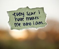 This month marks 7 years since I have cut. My scars remind me what I have gone through and who I have become. I am grateful for everything in my life and especially those people who have helped me along the way. Thank you.