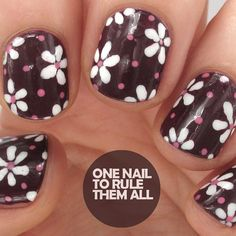 """Polka dot flowers using all @barrymcosmetics"""