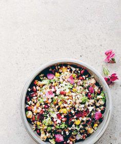 Ancient grain seven vegetable super-food salad.