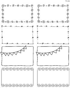 These really cute free printable Doodle Borders for labels are designed by Erin Rippy of InkTreePress. These doodle borders are in fillable and editable PDF templates. Use them as favor labels, shipping labels or even journal notes -:)To print use Worldla Doodle Borders, Page Borders, Borders And Frames, Doodle Patterns, Doodle Zen, Book Labels, Book Basket Labels, Journal Labels, Journal Cards