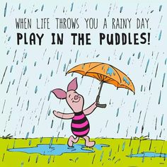 When life throws you a rainy day, play in the puddles. And take shelter under the umbrella of God's grace. ~ Karen T (Click for more.) #joyforthejourney #inspiration