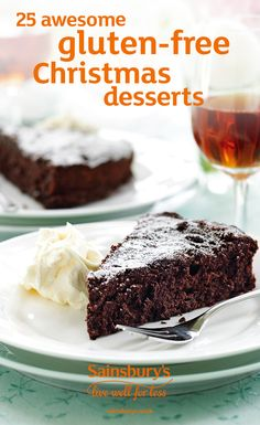 A gluten-free chocolate yule log, multi-layered Black Forest parfait and a towering pile of cranberry meringues are just some of the delicious gluten-free recipes you could cook this Christmas. Get creative – there's even a gluten-free Christmas pudding!