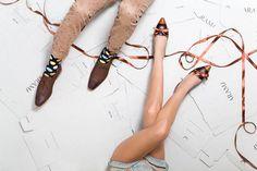 Sunrise Hand Brushed Brown Nubuck Leather Shoe by ARAMAshoes, $230.00